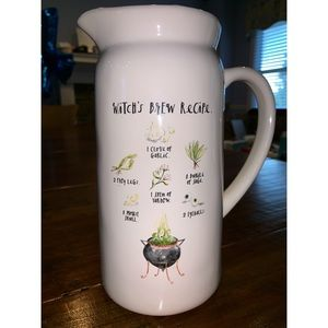 Rae Dunn Witch's Brew Glass Pitcher